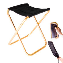 Outdoor Folding Chair Portable Train Stool Small Chairs 300G Al Hand Chair Camping Furniture Red Blue Orange Gray Black Stool