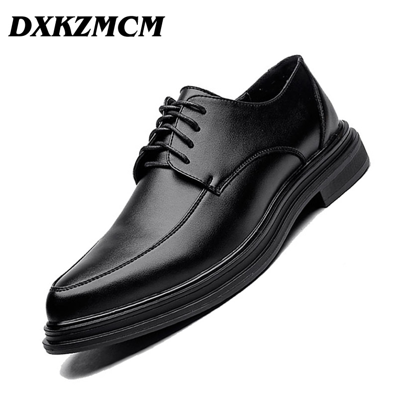 Mens Formal Shoes Luxury Brand Mens Dress Oxford Shoes For Men Casual Leather Shoes Fashion Black Size 38-44 Business Male Shoes цены онлайн
