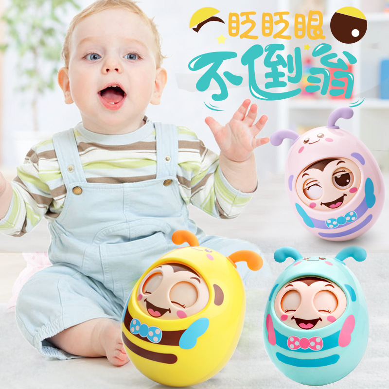 Retail a piece Baby shake bell hand can bite gum 0-6-12 months old boys and girls puzzle baby cartoon tumbler toys