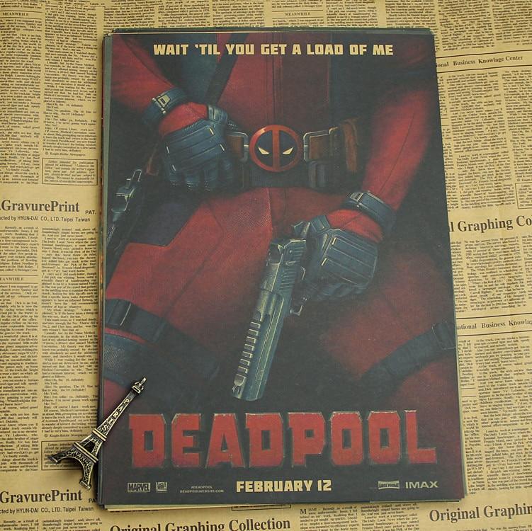 Deadpool Poster / Marvel superhjälte dekoration målning - Heminredning - Foto 4