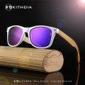 2017 White Color Wood Bamboo Sunglasses Women's Bamboo Polarized men Sunglasses With UV 400 Protection
