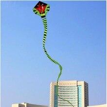 15m Power Cyan Cobra Kite Green Long Snake Kites Outdoor Fun Sports Flying KitesToys
