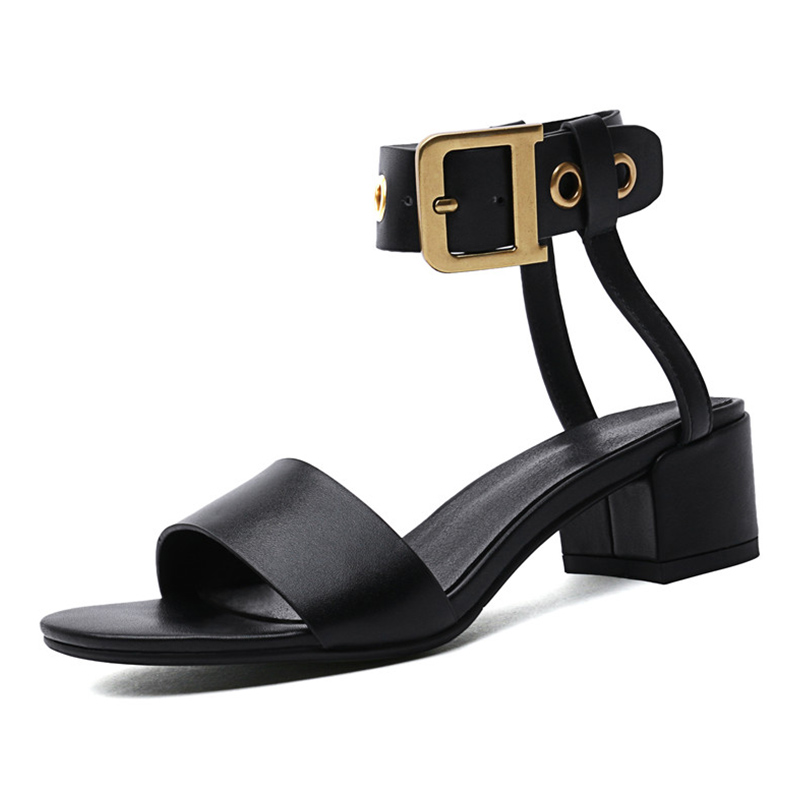 Женские ботильоны с квадратным носком на толстом среднем каблуке 4 см, с перекрестной шнуровкой, на молнии, Офисная модная повседневная обув... - 3