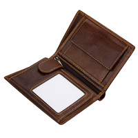 Vintage Classic Real Cow Leather Men S Wallet Retro Card Package Female Short Wallet ID Card