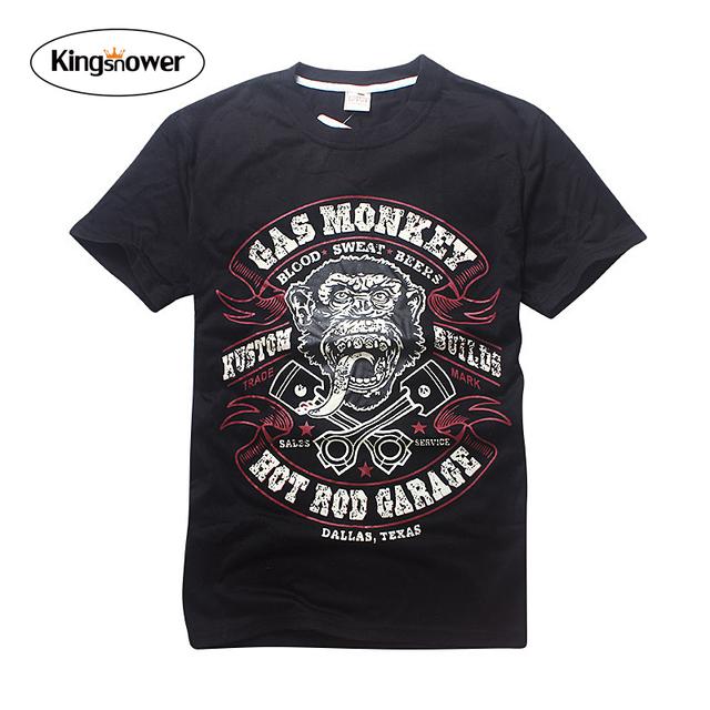 Roupas de verão 2016 dos homens novos da marca t-shirt macaco impressão O pescoço de manga curta T camiseta Casual solto Tops T JA2144 Bape