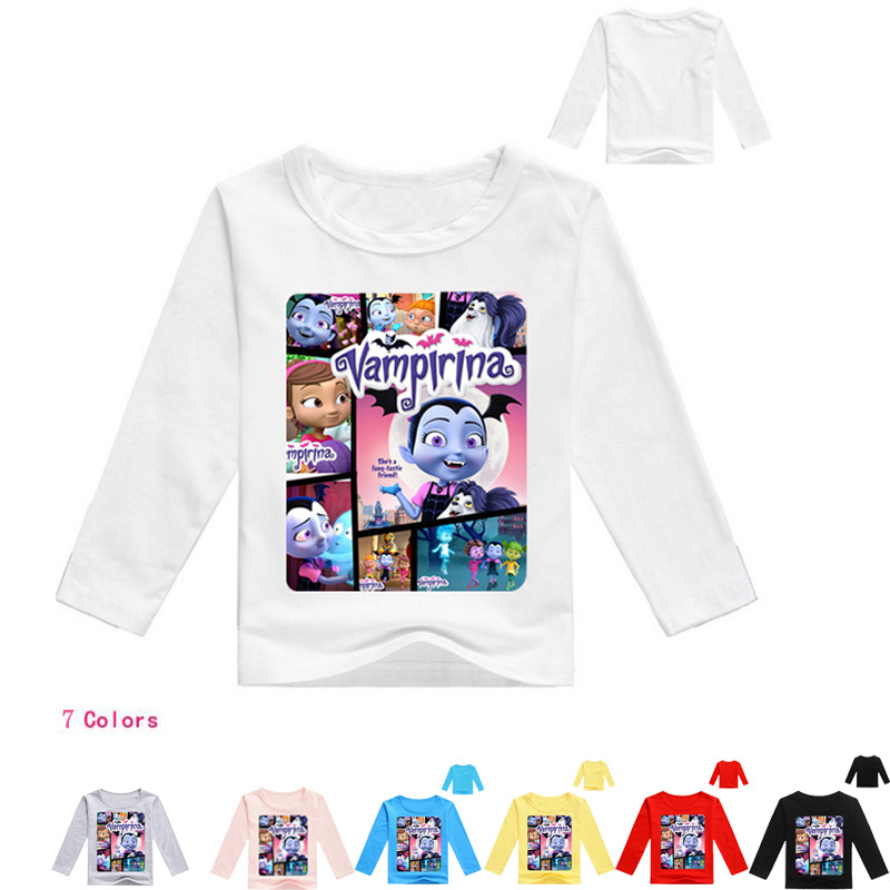 Z&Y 2-16Years Disfraz Vampirina Birthday Bobo Choses Girls Tops Nova Girl Shirt Long Sle ...