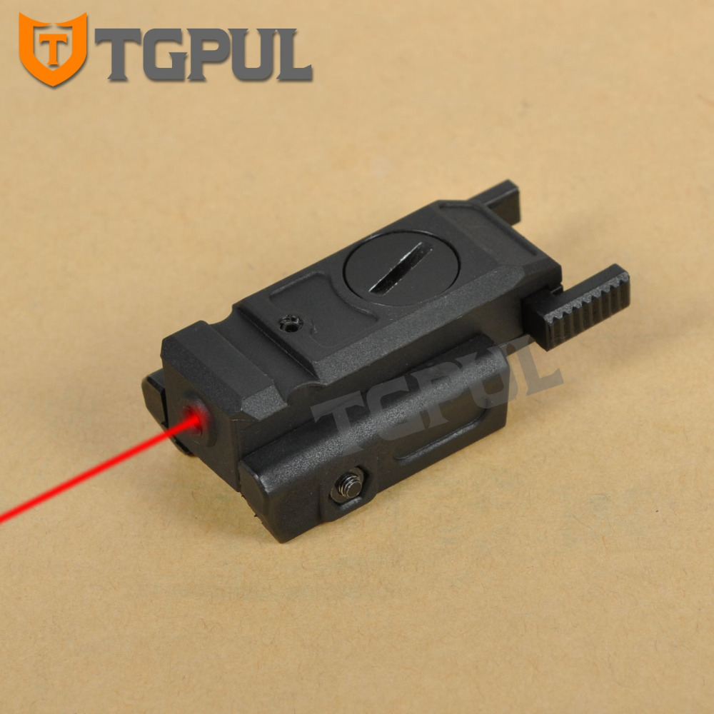 "TGPUL Low Profile Gun Laser Sight Tactical Laser Pointer Airsoft Pistol 20mm Picatinny Weaver Mount & 3/8"" 11mm Dovetail Mount"