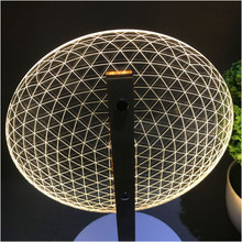 VIP Link 3D Effect Bloom Table Lamp Reading Novelty LED Night Light with  3D Optical Luminous Lampshades  Christmas Gift