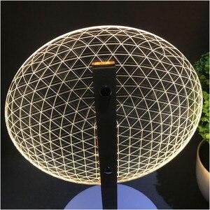 Image 1 - Настольная лампа для чтения VIP Link с 3D эффектом цветения, новинка, светодиодный ночсветильник с 3D оптическим светящимся абажуром, Рождественский подарок