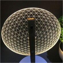 VIP Link Lámpara de lectura con efecto 3D, luz LED nocturna con pantallas luminosas ópticas 3D, regalo de Navidad