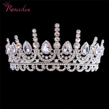 Luxury AAA CZ Zirconia Tiaras And Crowns Princess Pageant Engagement Tiara Wedding Hair Accessories Bridal Jewelry RE3323 exellent full aaa cz crowns tiara bridal wedding hair jewelry accessories pageant headpiece tr15063