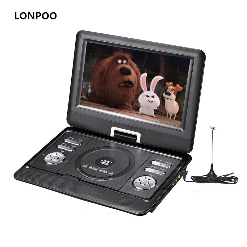 lonpoo portable dvd player 10 1 inch screen dvd player car. Black Bedroom Furniture Sets. Home Design Ideas