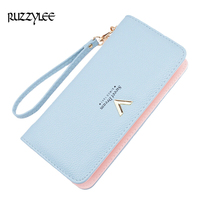 2017 New Women Wallets Multi Card Female Leather Wallet Ladies Long Zipper Purse Woman Purses Card