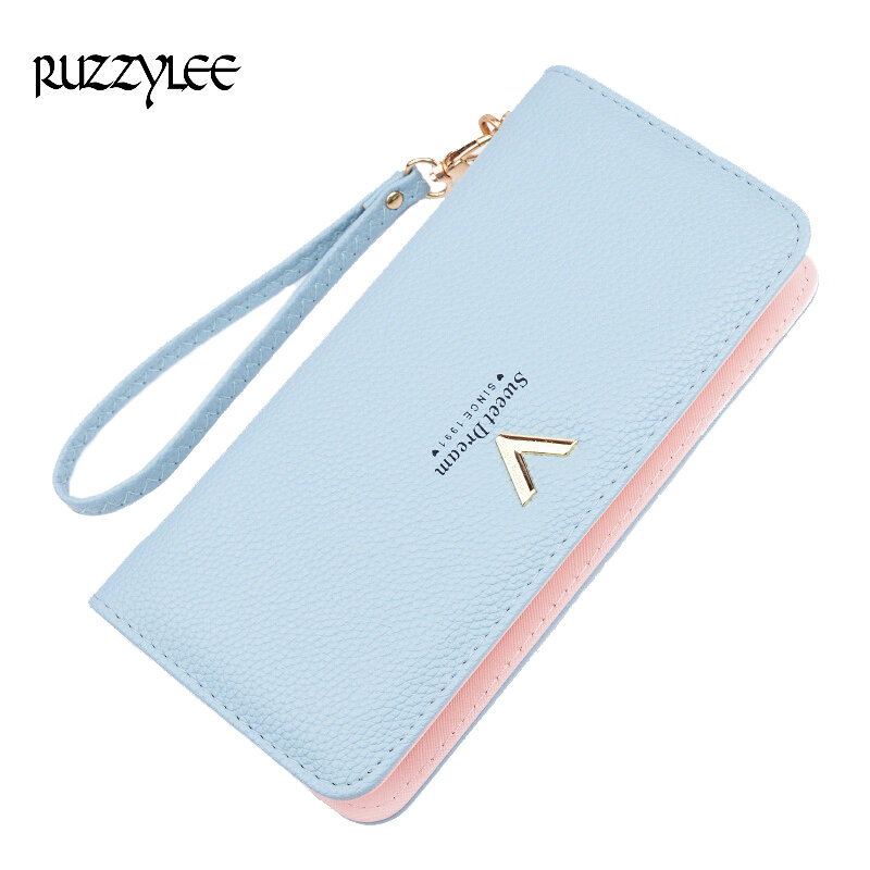 New Luxury Ladies Purses Female Brand Wallets Women Long Zipper Purse Woman Wallet Leather Card Holder Clutch Portefeuille femme luxury brand women wallets business wallet long designer double zipper leather purses id card holder purse phone case clutch