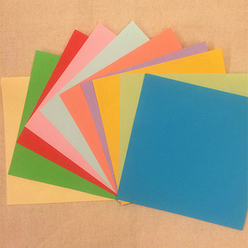 origami paper crafts ideas solid color 15 x15cm square origami paper diy origami 5053