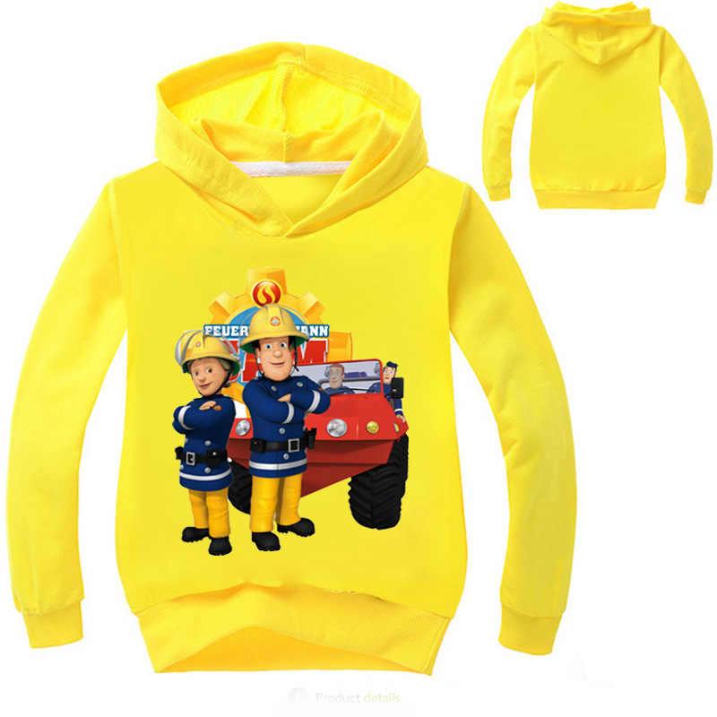 ボーイズガールズ長袖 tシャツ消防士サムパーカースウェットトップ tシャツ子供服のコート