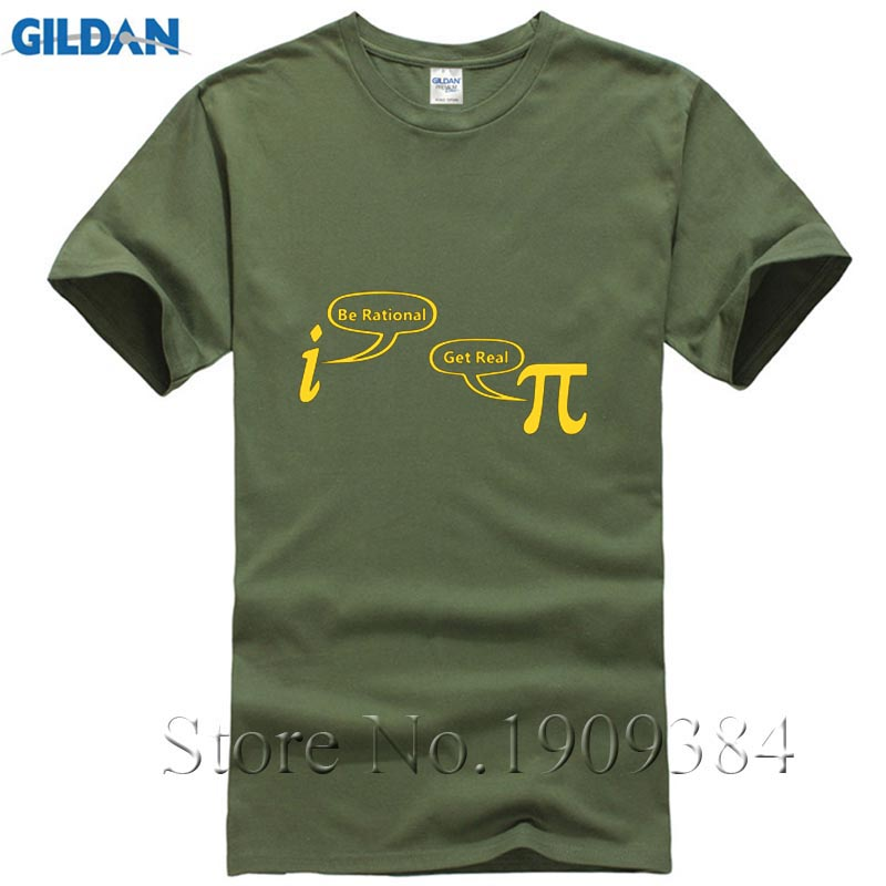 New Be Rational Get Real T Shirts Men Nerd Geek Pi Funny Math Printed Cotteon T-shirts Summer Leisture Short Sleeve Tops Tees