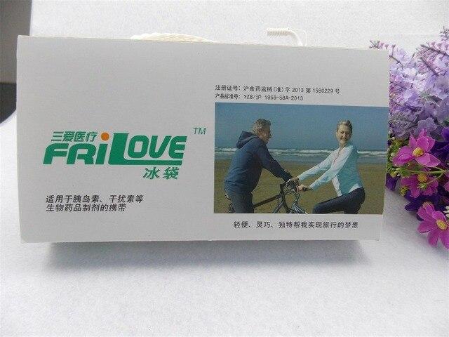 Insulin special mini portable cooler storage bag for travel refrigerator drug freezer Pacote especial Insulin bolsa termica