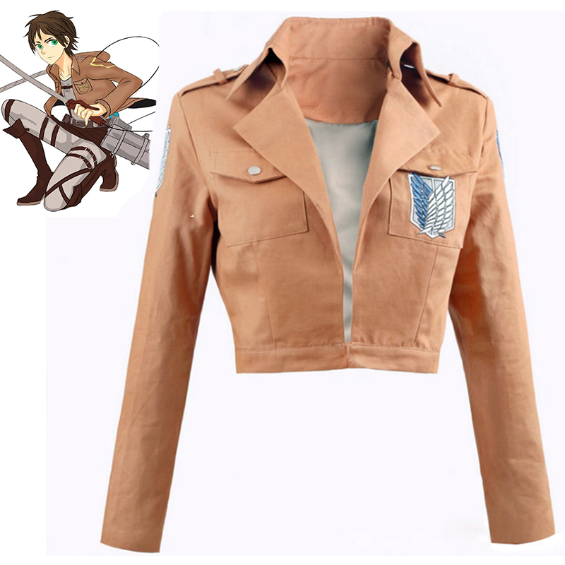 Anime Attack On Titan Cosplay Costumes Eren Jager Mikasa Ackerman Armin Arlert Jacket Cosplay Halloween Carnival Cosplay Costume