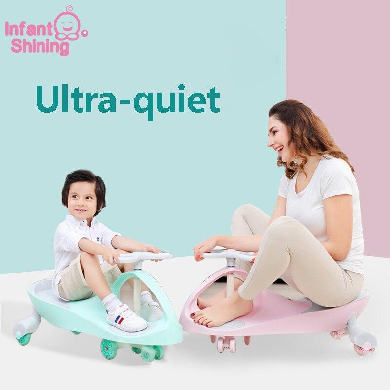 Crianças Carro da Torção 1-3 Anos de Idade Do Bebê Carro Carro Yo Rodada Mudo Universal Roda de Balanço Brinquedo Do Bebê Menina carro menino
