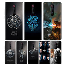 Black Soft Silicone Bag Cover Case for Xiaomi Mi 9T CC9 Redmi 4 4X 5 6 6A 7 7A Note Plus K20 Pro F1 Tampa Fall Game Thrones Daen(China)