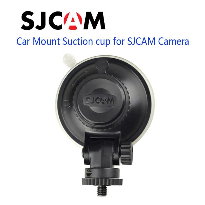 Envío libre! Sjcam Accesorios coche taza de succión de montaje para sj4000 sj5000 M10 serie sj6 sj7 M20 acción cámara DV