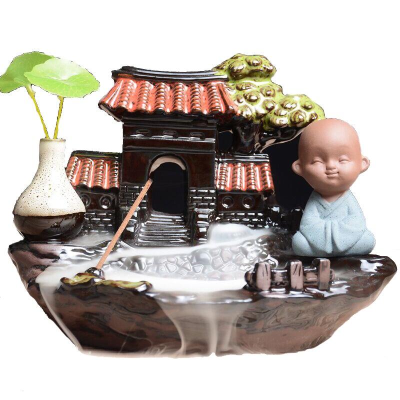 Новый стиль Будда курильница для благовоний горелка Декор для дома керамическая благовония в виде конуса держатель Censer E
