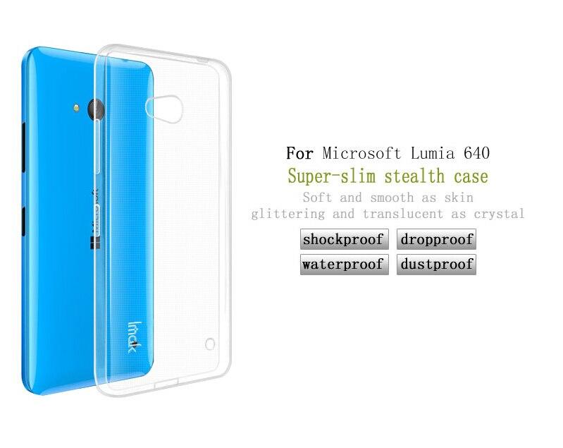 Dla microsoft lumia 535 532 435 640 640xl case cover, 0.6mm tpu case super slim miękkie back case etui na telefony 9