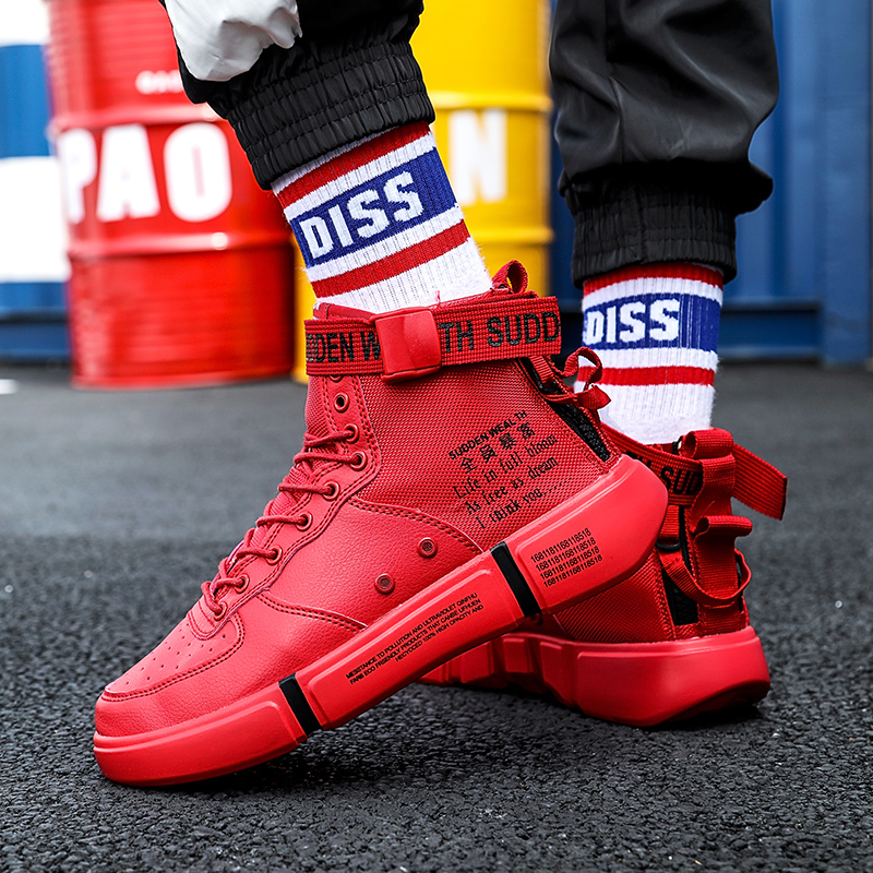 Mens Basketball Shoes High-top Breathable four Seasons Leisure Womens Shoes Lightweight and Comfortable Sneakers