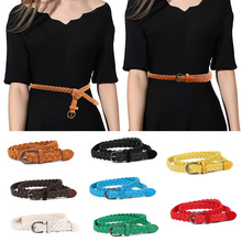 Hot Sell New Womens Belt Style Candy Colors Hemp Rope Braid Female For Dress