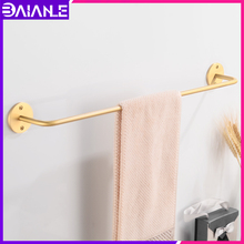 Towel Bar Brass Decorative Bathroom Holder Gold Toilet Hanger Rack Rail Wall Mounted Accessories