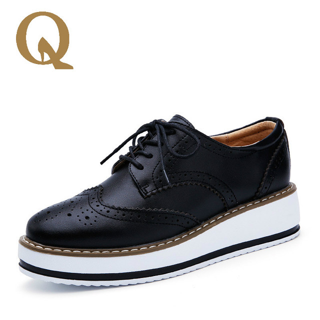 759a728847d New Spring Fashion Ladies Shoes British Style Bullock Casual Shoes  Personalized Sewing Thread Anterior Frenulum Women Shoes