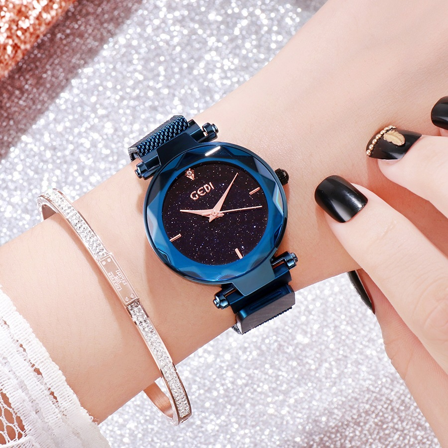 US $19 56 40% OFF|Starry sky women watches GEDI luxury Tik Tok fashion lady  watch online hot high quality simple girls watch waterproof clock-in