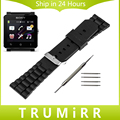24mm Silicone Rubber Watch Band for Sony Smartwatch 2 SW2 Replacement Stainless Steel Buckle Strap Bracelet with Tool Spring Bar