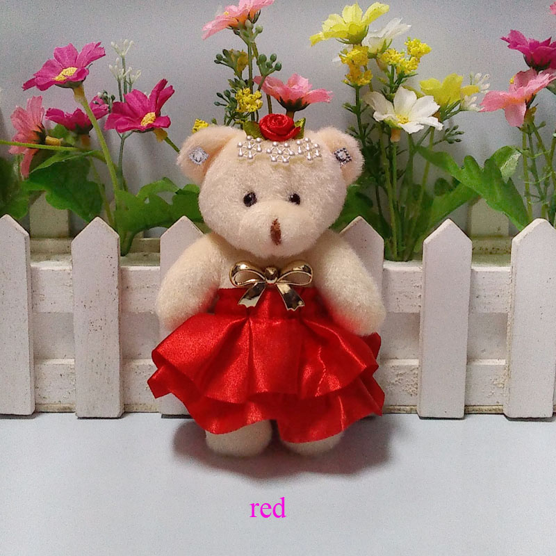 Cute plush toys bow flower bouquets material accessory teddy bears ...