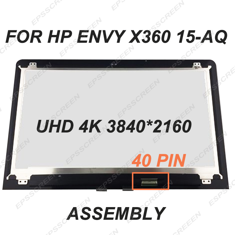 For HP ENVY x360 15 AQ 15 6 UHD 4K LCD LED Touch Screen Assembly 40