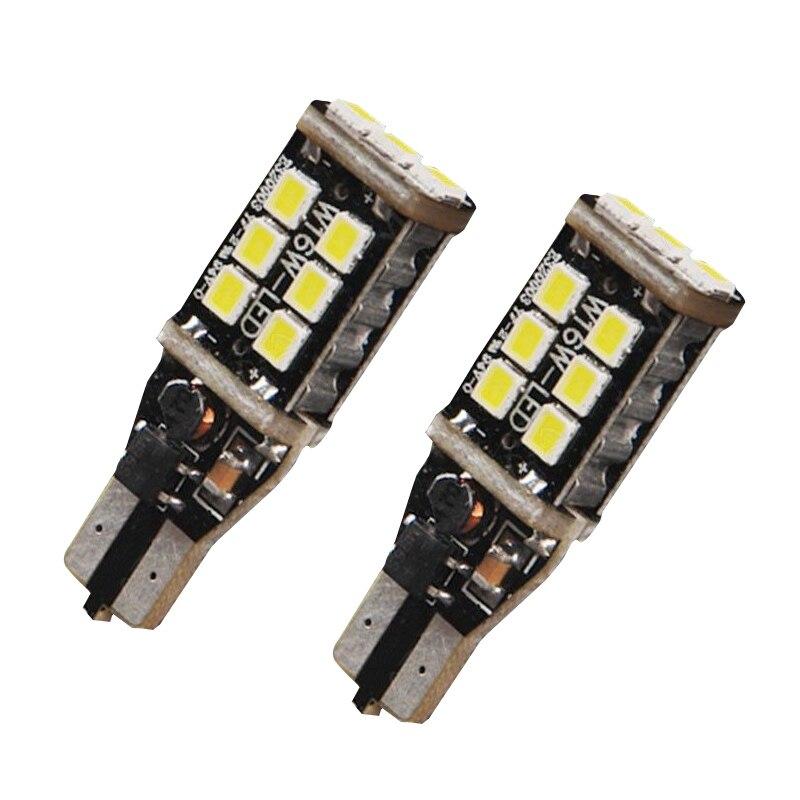 Super White Brightness Stopping Reminding Light Bulb 2PCS Error Free T15/T10 High Power 15W LED Backup Reverse Stop Light HR