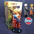 Dragon Ball Z Figuras de Ação 34 CM PVC Estrelas Mestre Pedaço O Super Saiyan Goku Coleção Modelo novo preto