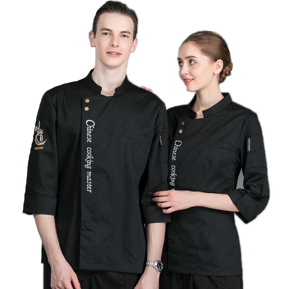Autumn&Winter Long-Sleeved Anti-dirty Uniform Chef's Jacket Hotel Restaurant Waiter Kitchen Men Work Clothes Top Coat Overalls