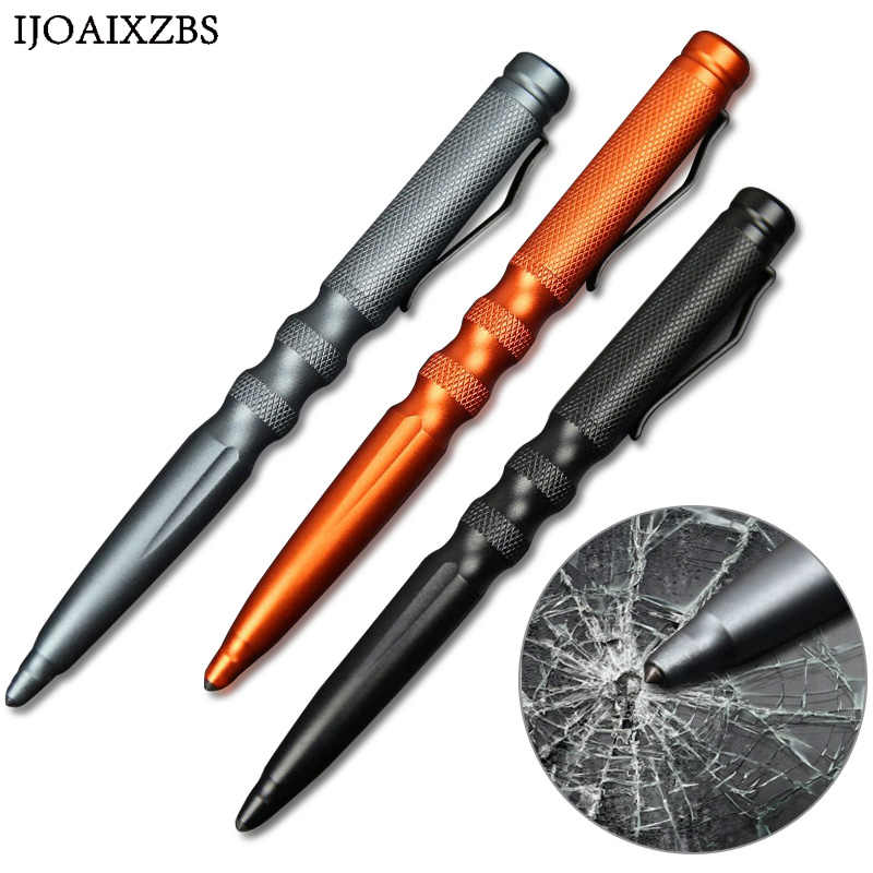 Tactical Pen Self Defense Glass Breaker Emergency Survival Gear Aluminum Refill Outdoor Multi-Function Weapons Tungsten Steel oumily aircraft grade aluminum alloy tactical defense writing pen w white led light rose red