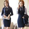 2016 autumn winter new women dress suits office fashion women business suits formal office wear work dress + blazer