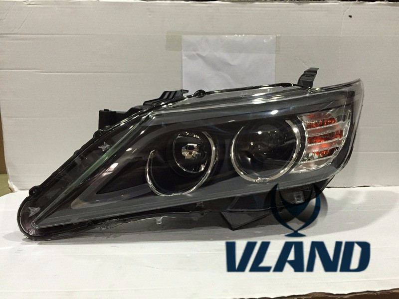 VLAND manufacturer for Car head lamp for Camry LED Headlight 2012 Head light with xenon HID projector lens and Day xl 2200u manufacturer tv projector lamp
