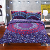 3Pcs Bed in a Bag Floral Bedding Set Queen Size Mandala Pattern Duvet Cover Boho Luxury Bed Set Hot Us And Au Size