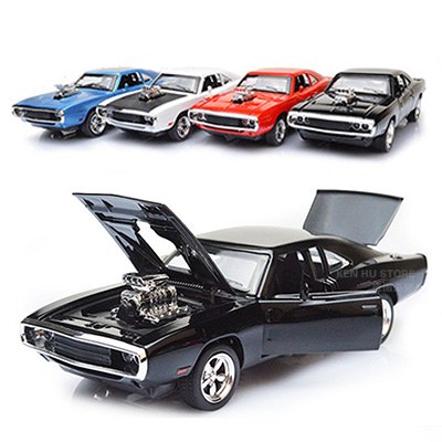 купить 1:32 kids toys Fast & Furious 7 Dodge Charger metal toy cars model pull back car miniatures gifts for boys children по цене 1044.9 рублей