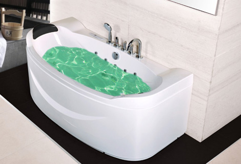 Fiber glass Acrylic whirlpool bathtub Three-side Aprons Hydromassage Tub Nozzles Spary jets spa RS6169D