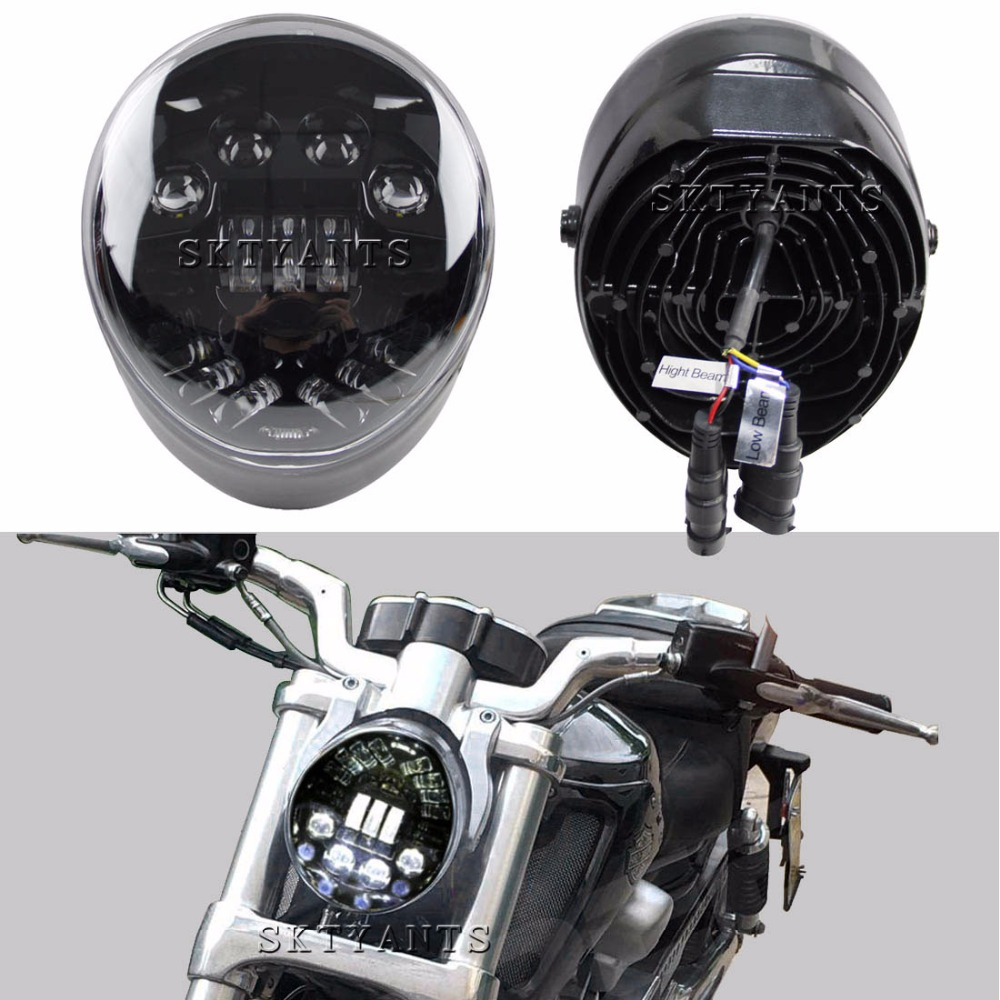 SKTYANT LED  Headlights For Harley V-rod Motorcycle Accessories LED Headlight for Harley VRSCA V-Rod VRod Led Headlight