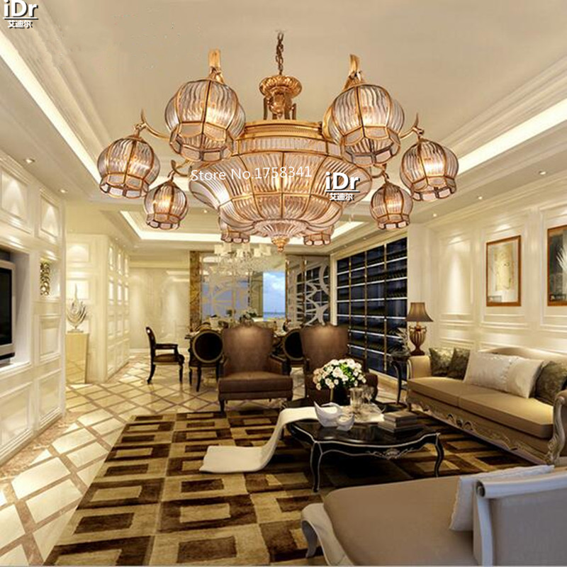 Living Room Lamp Lighting Lamps Copper Type Restaurant Art Light Chandeliers Upscale Atmosphere