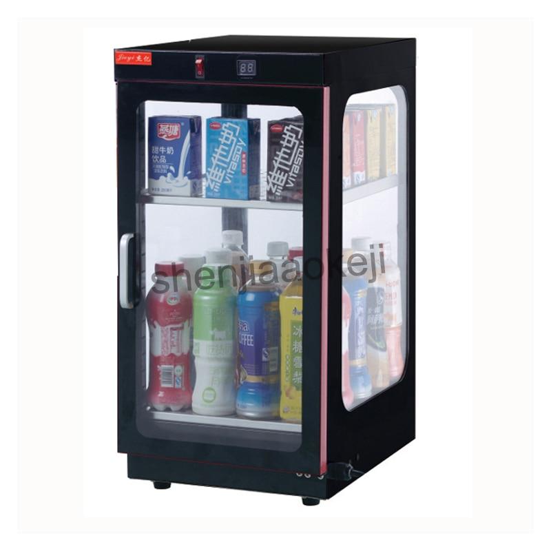 1pc Milk Tea Insulation Cabinet Drinks Beverage Warmer Display Showcase Food heat preservation machine food warming machine