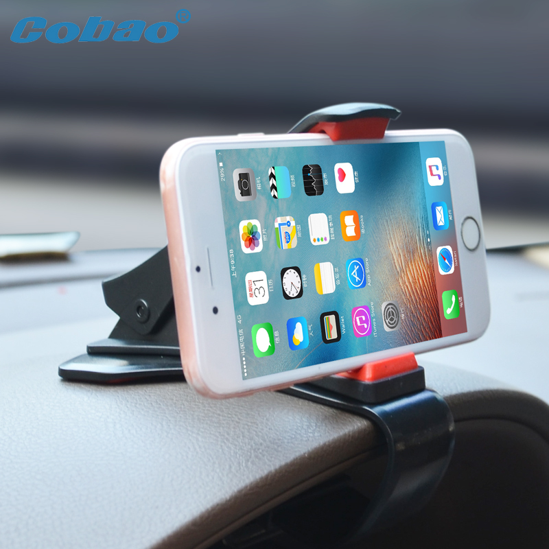 Cobao Universal Mobile Phone Holder Stand Dashboard 360 Adjustable Car Phone Holder Clip for iPhone Xiaomi Car Accessories