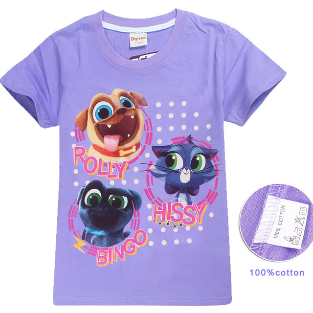 3 8y New 2018 Puppy Dog Pals T Shirt Summer Tops Tshirt Baby Kids